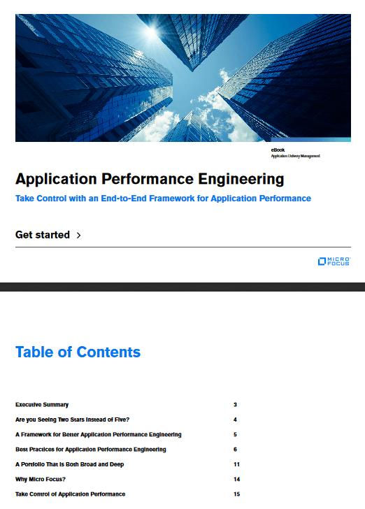 Application Performance Engineering : Take Control with an End-to-End Framework for Application Performance -TechProspect Application Performance Engineering : Take Control with an End-to-End Framework for Application Performance -TechProspect
