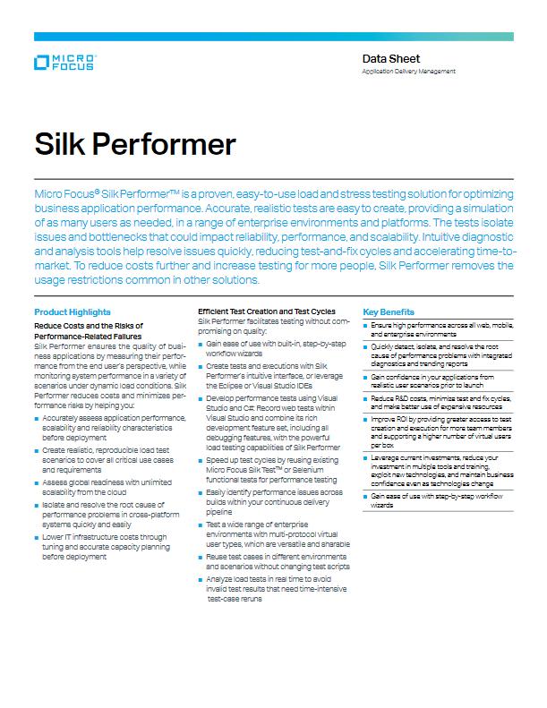 DevOps Silk Performer -TechProspect DevOps Silk Performer -TechProspect