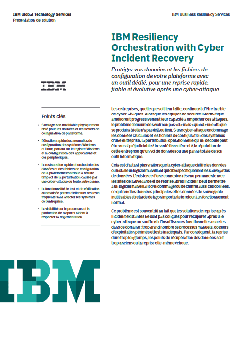 IBM Resiliency Orchestration with Cyber Incident Recovery -TechProspect IBM Resiliency Orchestration with Cyber Incident Recovery -TechProspect