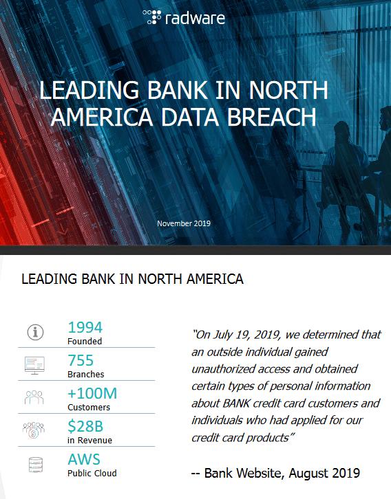 Leading Bank In North America Data Breach -TechProspect Leading Bank In North America Data Breach -TechProspect