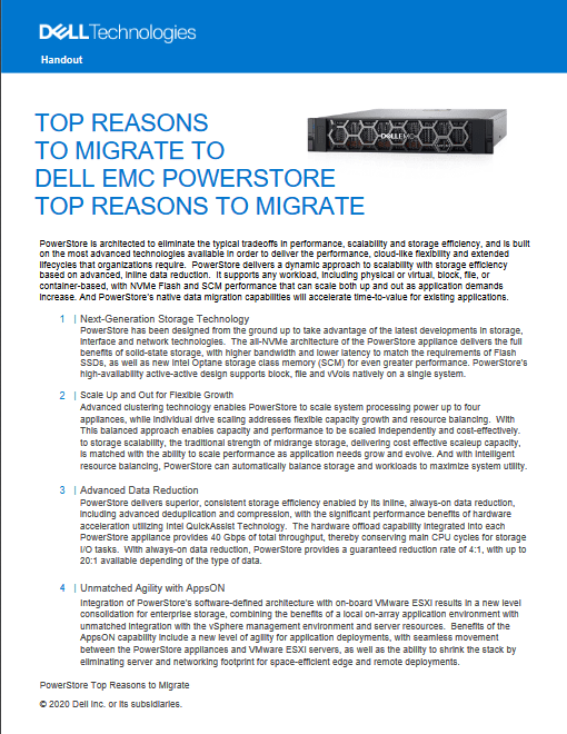 Top Reasons To Migrate To Dell EMC Powerstore -TechProspect Top Reasons To Migrate To Dell EMC Powerstore -TechProspect