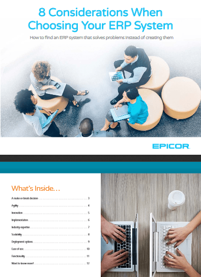 8 Considerations When Choosing Your ERP System -TechProspect 8 Considerations When Choosing Your ERP System -TechProspect