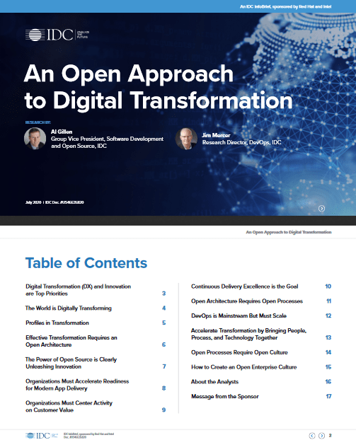 An Open Approachto Digital Transformation -TechProspect An Open Approachto Digital Transformation -TechProspect