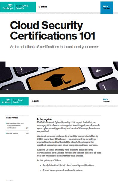 Cloud Security Certifications 101 -TechProspect Cloud Security Certifications 101 -TechProspect