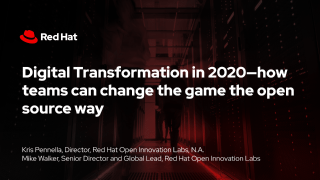 Digital Transformation in 2020 – How Teams can Change the Game the Open Source Way -TechProspect Digital Transformation in 2020 – How Teams can Change the Game the Open Source Way -TechProspect