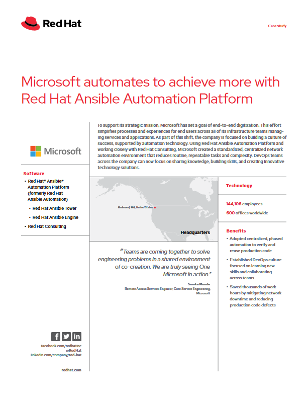 Microsoft Automates to Achieve more with Red Hat Ansible Automation Platform -TechProspect Microsoft Automates to Achieve more with Red Hat Ansible Automation Platform -TechProspect
