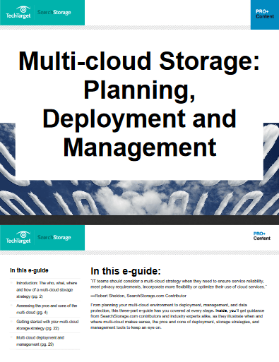 Multi cloud Storage Planning Deployment and Management -TechProspect Multi cloud Storage Planning Deployment and Management -TechProspect