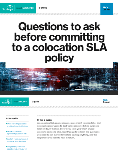 Questions to Ask Before Committing to a Colocation SLA Policy -TechProspect Questions to Ask Before Committing to a Colocation SLA Policy -TechProspect