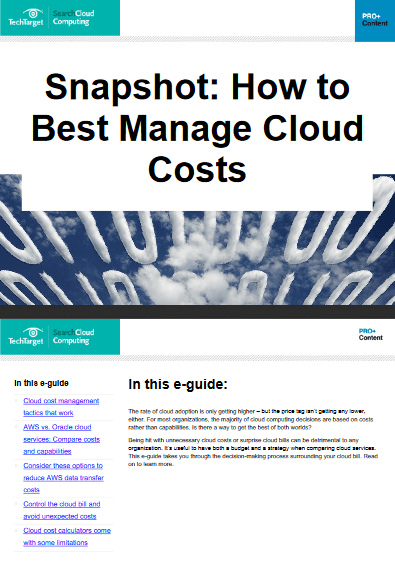 Snapshot – How to Best Manage Cloud Costs -TechProspect Snapshot – How to Best Manage Cloud Costs -TechProspect
