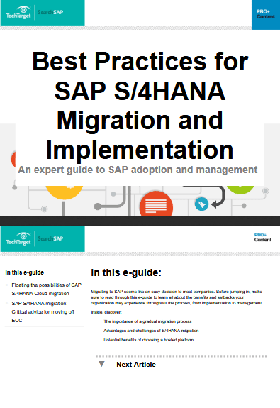 Best Practices for SAP S/4HANA Migration and Implementation -TechProspect Best Practices for SAP S/4HANA Migration and Implementation -TechProspect