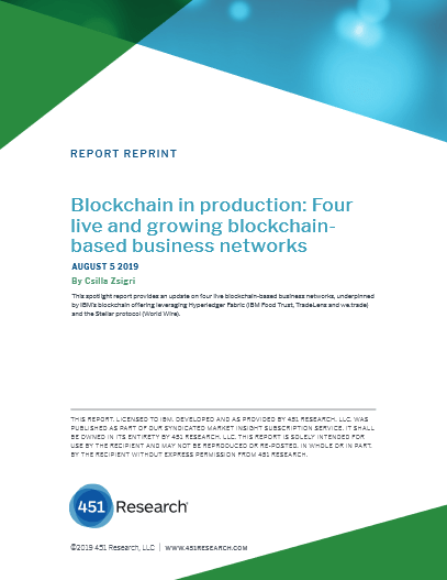 Blockchain in Production: Four live and Growing Blockchain Based Business Networks -TechProspect Blockchain in Production: Four live and Growing Blockchain Based Business Networks -TechProspect