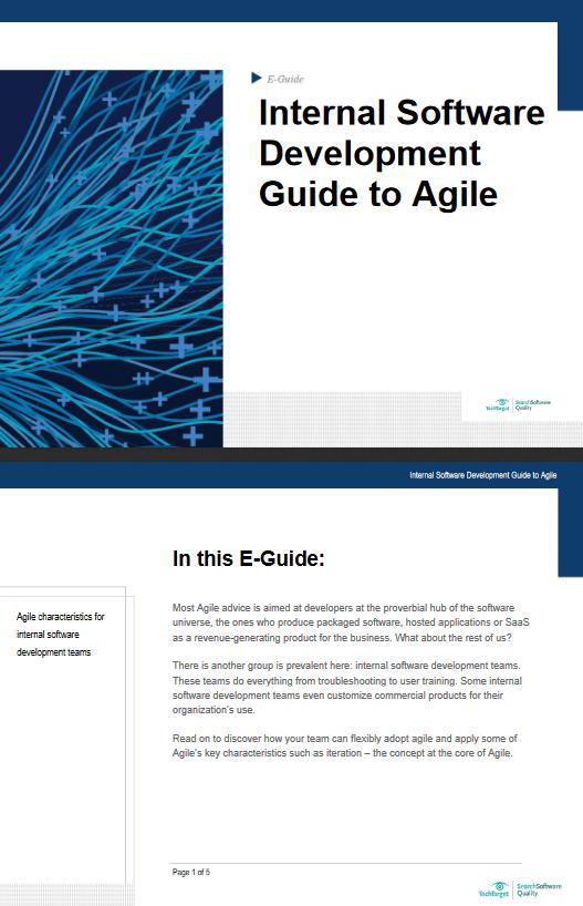 Internal Software Development Guide to Agile -TechProspect Internal Software Development Guide to Agile -TechProspect