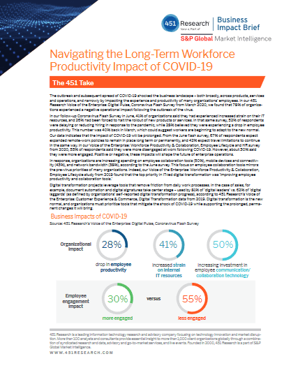 Navigating the Long-Term Workforce Productivity Impact of COVID-19 -TechProspect Navigating the Long-Term Workforce Productivity Impact of COVID-19 -TechProspect