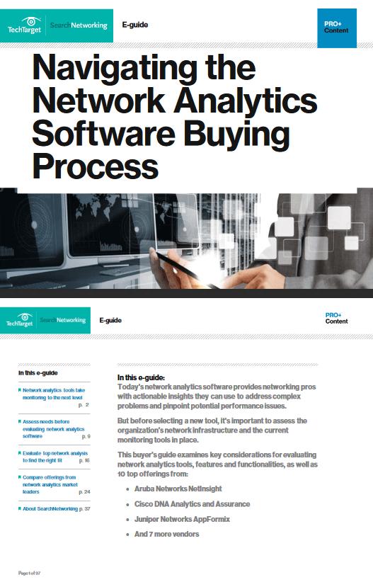 Navigating the Network Analytics Software Buying Process -TechProspect Navigating the Network Analytics Software Buying Process -TechProspect