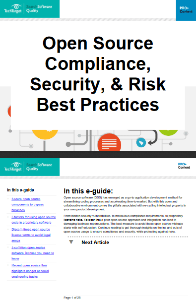 Open Source Compliance Security and Risk Best Practices -TechProspect Open Source Compliance Security and Risk Best Practices -TechProspect