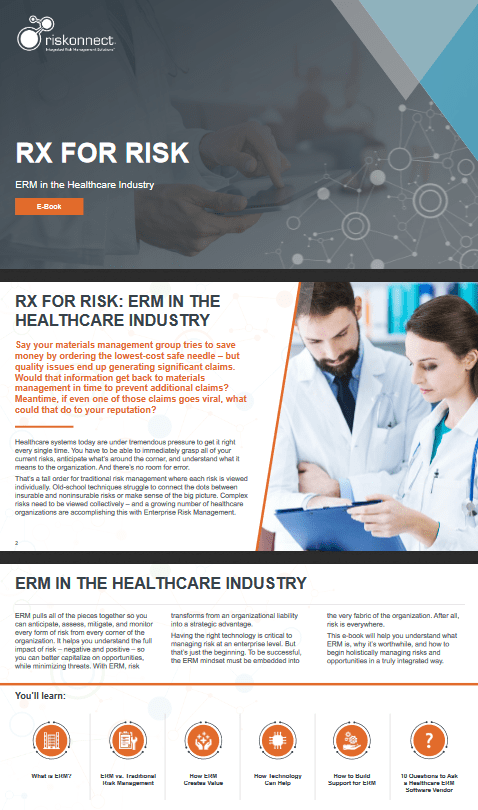 Rx For Risk ERM In the Healthcare Industry -TechProspect Rx For Risk ERM In the Healthcare Industry -TechProspect