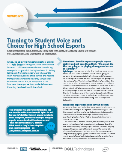 Turning to Student Voice and Choice for High School Esports -TechProspect Turning to Student Voice and Choice for High School Esports -TechProspect