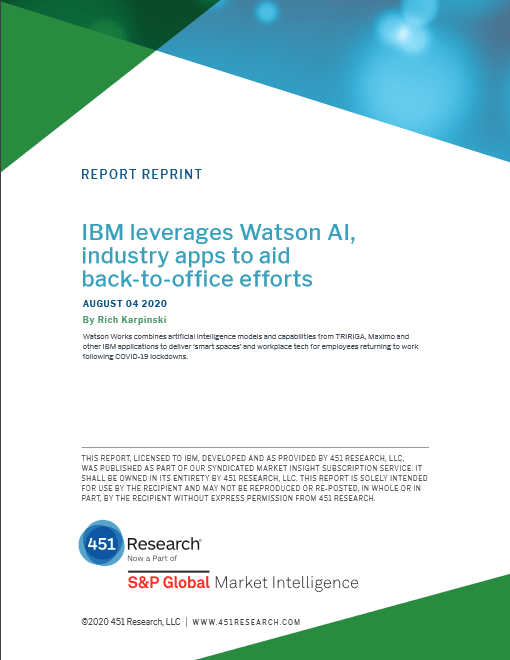 IBM Leverages Watson AI, Industry Apps to Aid Back-to-office Efforts -TechProspect IBM Leverages Watson AI, Industry Apps to Aid Back-to-office Efforts -TechProspect