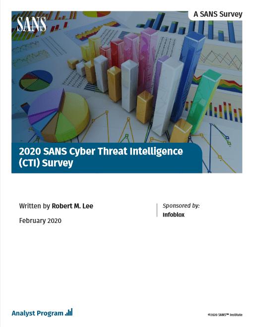 2020 SANS Cyber Threat Intelligence (CTI) Survey -TechProspect 2020 SANS Cyber Threat Intelligence (CTI) Survey -TechProspect