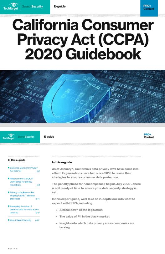 California Consumer Privacy Act CCPA 2020 Guidebook -TechProspect California Consumer Privacy Act CCPA 2020 Guidebook -TechProspect
