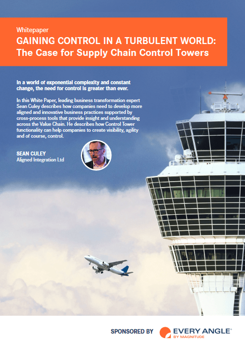Gaining Control In A Turbulent World: The Case For Supply Chain Control Towers -TechProspect Gaining Control In A Turbulent World: The Case For Supply Chain Control Towers -TechProspect