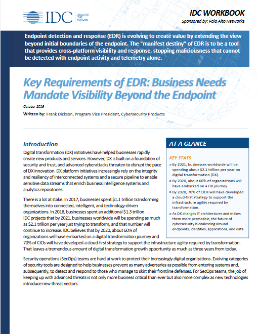 Key Requirements of EDR: Business Needs Mandate Visibility Beyond the Endpoint -TechProspect Key Requirements of EDR: Business Needs Mandate Visibility Beyond the Endpoint -TechProspect
