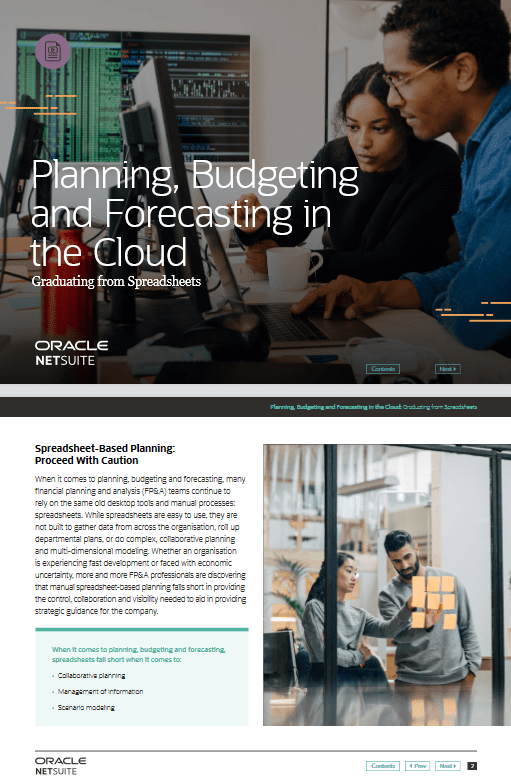 Planning, Budgeting and Forecasting in the Cloud -TechProspect Planning, Budgeting and Forecasting in the Cloud -TechProspect