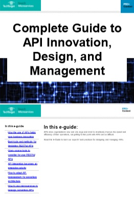 Complete Guide to API Innovation, Design, and Management -TechProspect Complete Guide to API Innovation, Design, and Management -TechProspect