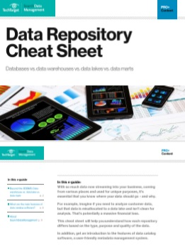 Data Repository Cheat Sheet -TechProspect Data Repository Cheat Sheet -TechProspect