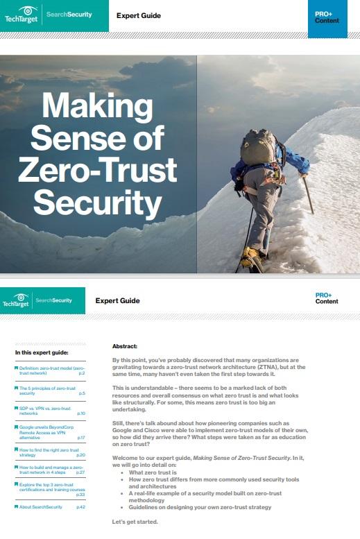 Making Sense of Zero-Trust Security -TechProspect Making Sense of Zero-Trust Security -TechProspect