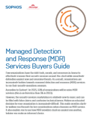 Managed Detection and Response (MDR) Services Buyers Guide -TechProspect Managed Detection and Response (MDR) Services Buyers Guide -TechProspect