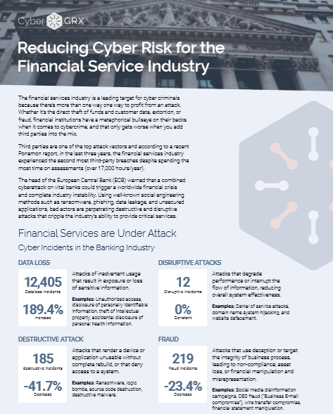 Reducing Cyber Risk for the Financial Service Industry -TechProspect Reducing Cyber Risk for the Financial Service Industry -TechProspect