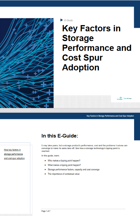 Key Factors in Storage Performance and Cost Spur Adoption -TechProspect Key Factors in Storage Performance and Cost Spur Adoption -TechProspect