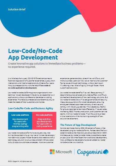 Low-Code-No-Code App Development -TechProspect Low-Code-No-Code App Development -TechProspect