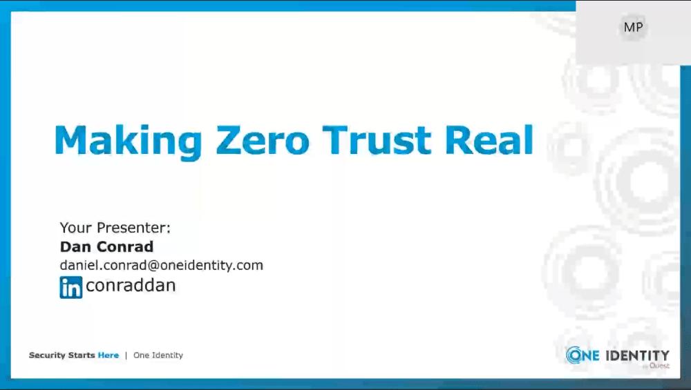 Making Zero Trust Real -TechProspect Making Zero Trust Real -TechProspect