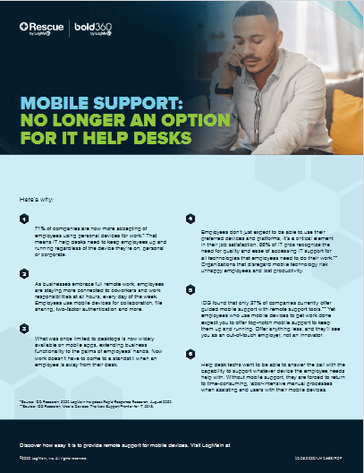 Moblie Support No Longer an Option for IT Help Desks -TechProspect Moblie Support No Longer an Option for IT Help Desks -TechProspect