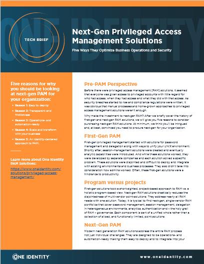 Next-Gen Privileged Access Management Solutions -TechProspect Next-Gen Privileged Access Management Solutions -TechProspect