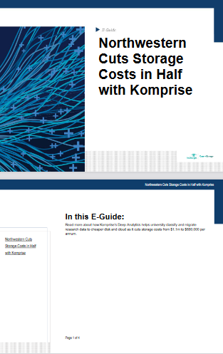 Northwestern Cuts Storage Costs in Half with Komprise -TechProspect Northwestern Cuts Storage Costs in Half with Komprise -TechProspect