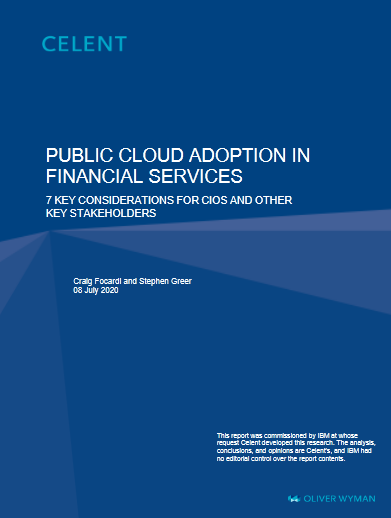 Public Cloud In Financial Services -TechProspect Public Cloud In Financial Services -TechProspect