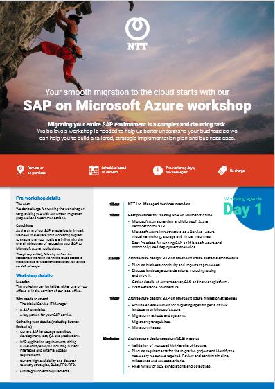 SAP on Microsoft Azure workshop -TechProspect SAP on Microsoft Azure workshop -TechProspect