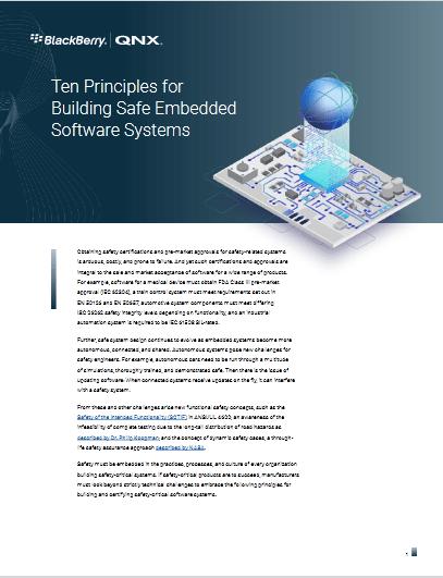 Ten Principles for Building Safe Embedded Software Systems -TechProspect Ten Principles for Building Safe Embedded Software Systems -TechProspect