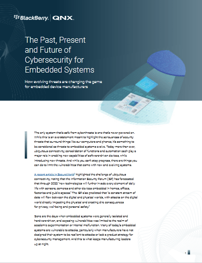 The Past, Present and Future of  Cybersecurity for Embedded Systems -TechProspect The Past, Present and Future of  Cybersecurity for Embedded Systems -TechProspect