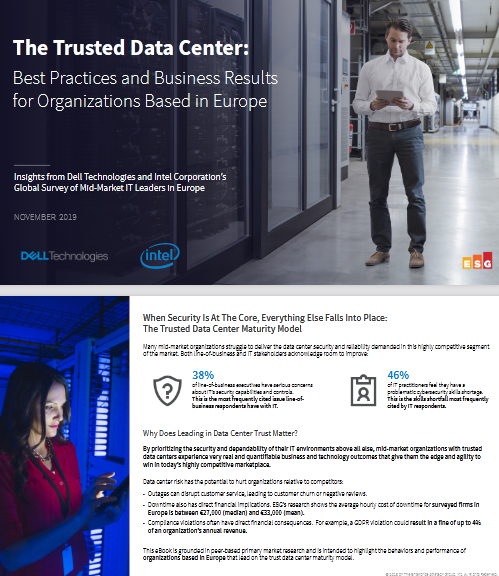 The Trusted Data Center Best Practices and Business Results for Organizations Based in Europe -TechProspect The Trusted Data Center Best Practices and Business Results for Organizations Based in Europe -TechProspect