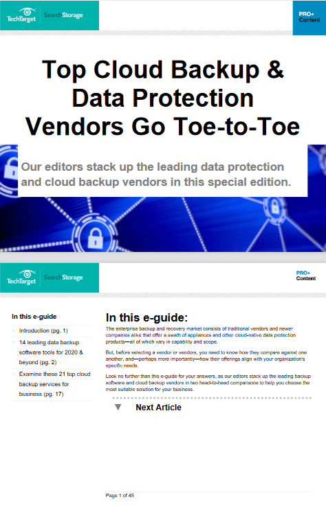 Top Cloud Backup and Data Protection Vendors Go Toe to Toe -TechProspect Top Cloud Backup and Data Protection Vendors Go Toe to Toe -TechProspect