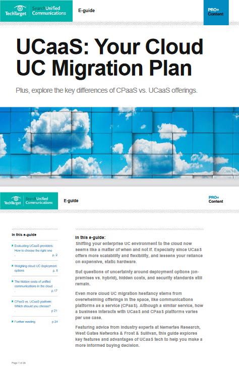 UCaaS Your Cloud Migration Plan -TechProspect UCaaS Your Cloud Migration Plan -TechProspect