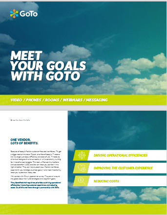 Meet Your Goals With GoTo -TechProspect Meet Your Goals With GoTo -TechProspect