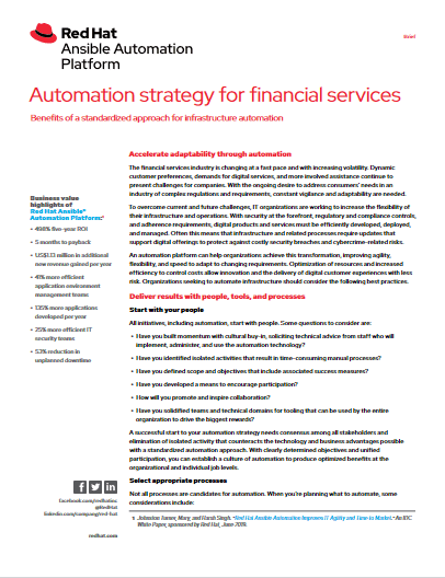 Automation Strategy for Financial Services -TechProspect Automation Strategy for Financial Services -TechProspect