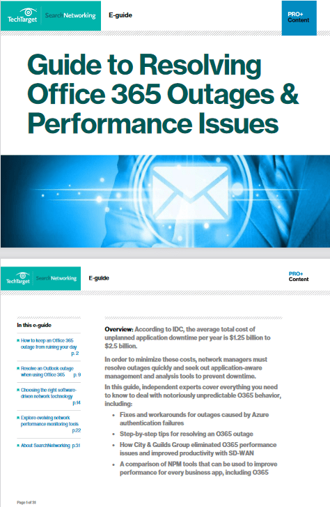 Guide to Resolving Office 365 Outages and Performance Issues -TechProspect Guide to Resolving Office 365 Outages and Performance Issues -TechProspect