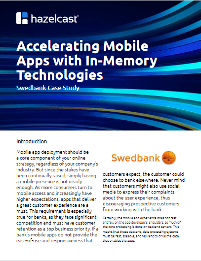 Accelerating Mobile Apps With In-Memory Technologies -TechProspect Accelerating Mobile Apps With In-Memory Technologies -TechProspect