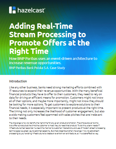 Adding Real-Time Stream Processing to Promote Offers at the Right Time -TechProspect Adding Real-Time Stream Processing to Promote Offers at the Right Time -TechProspect